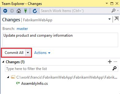 share your code with git using visual studio 2015