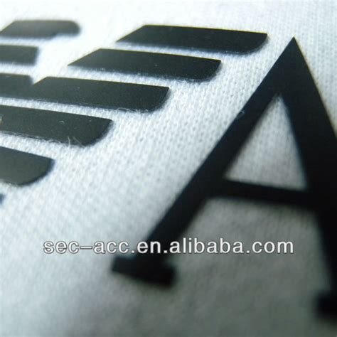 Raised Rubber Label Printing Heat Transfer Garment