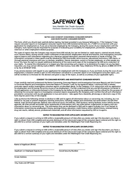 safeway application form free printable safeway application form page 4