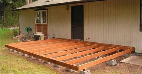 build  deck  deck blocks decking backyard