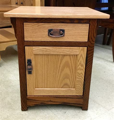 two tone end tables mission 1 door end table with two tone finish amish