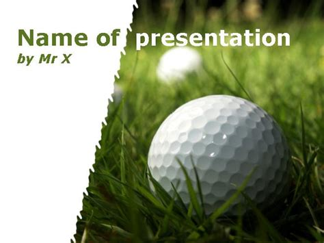 golf ball onto a lawn powerpoint template
