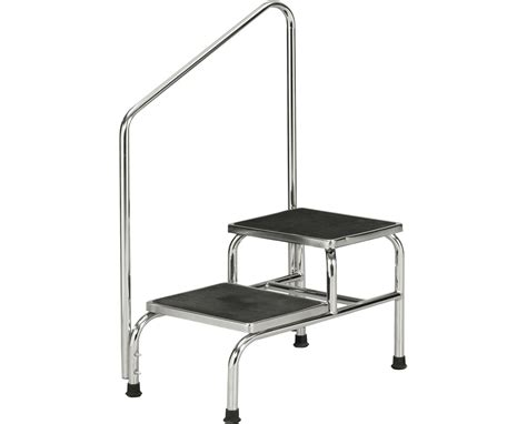 equipment step stool handrail clinton industries chrome two step bariatric save at