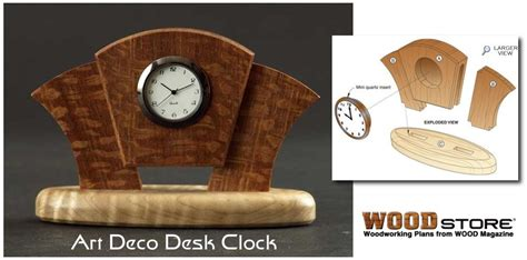 Desk Clock Plans by Build Your Own Clock Woodworking Plans