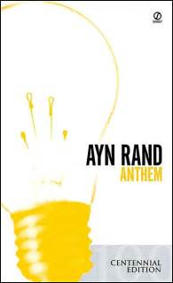 ayn rand wrote science fiction book review anthem