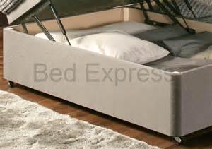 luxury chenille ottoman divan storage bed single double