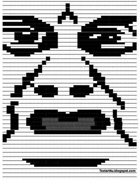 Copy And Paste Meme Faces - ascii art copy and paste autos post