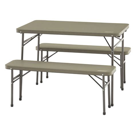 Coleman Sink Table by Coleman Folding Table And Bench 3 Set