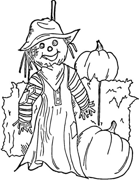 easy scarecrow coloring pages get this easy printable scarecrow coloring pages for