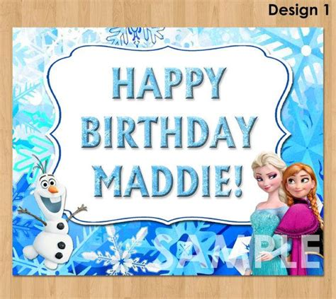 frozen printable happy birthday card 8 best images of printable frozen sign frozen party free