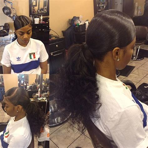 slick back weave hairstyles 25 best ideas about weave ponytail on pinterest weave