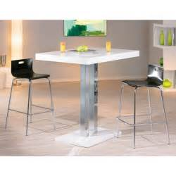 White Breakfast Bar Table Palzo Bar Table In High Gloss White With 4 Visconti Stools