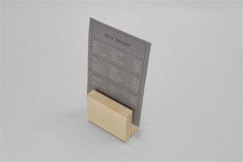 da tavolo portamenu in legno da tavolo plungtools