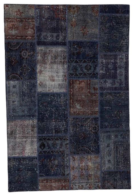 Modern Area Rugs 6x9 Contemporary Patchwork Grey Wool Area Rug Without Boarders 6x9 08 Traditional Area Rugs By