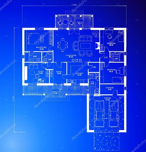 blueprint for house architectural blueprint background vector stock vector