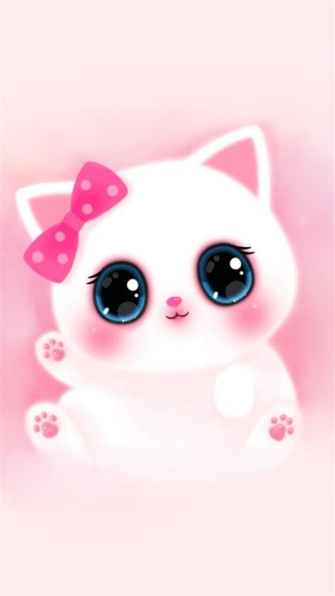 wallpaper pink cartoon cute animals art baby cat background beautiful beauty