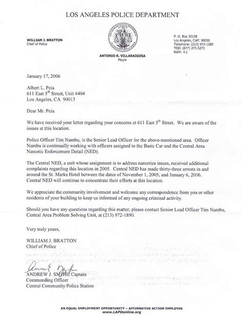 Lapd Appeal Letter Sle The California La Files