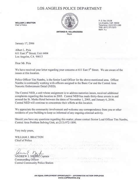 Disqualification Letter The California La Files
