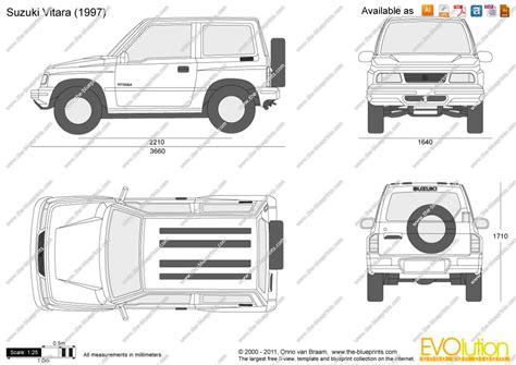 Dimensions Of Suzuki Grand Vitara The Blueprints Vector Drawing Suzuki Vitara