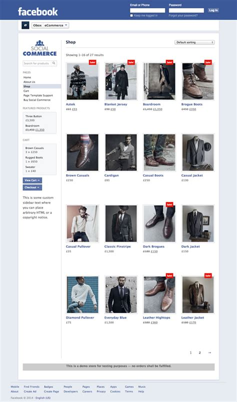 wordpress themes facebook integration social commerce woocommerce facebook plugin obox themes