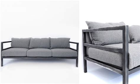 Steel Frame Sofa by 10 Easy Pieces The California Dude Sofa Remodelista