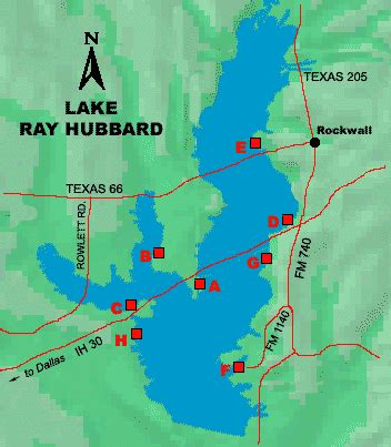 texas bank fishing map access to lake hubbard