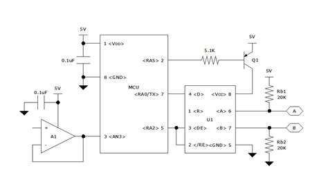 rs485 resistor on the drawing board using rs 485 transceivers