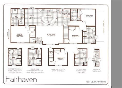 schult homes floor plans schult chateau elan fairhaven 6828 83 excelsior homes