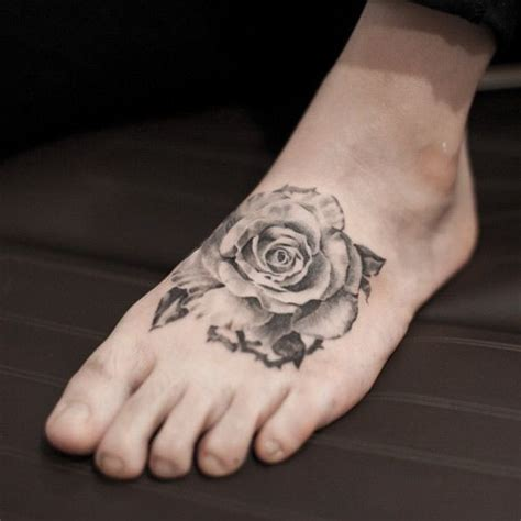 rose tattoos on feet best 25 foot tattoos ideas on