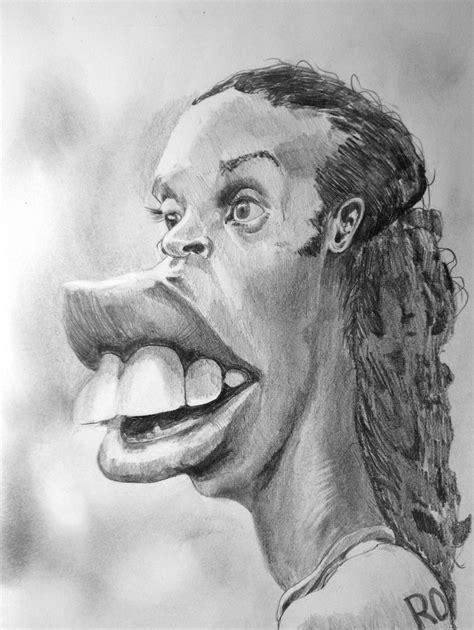 speed drawing ronaldinho caricature speed drawing italia by
