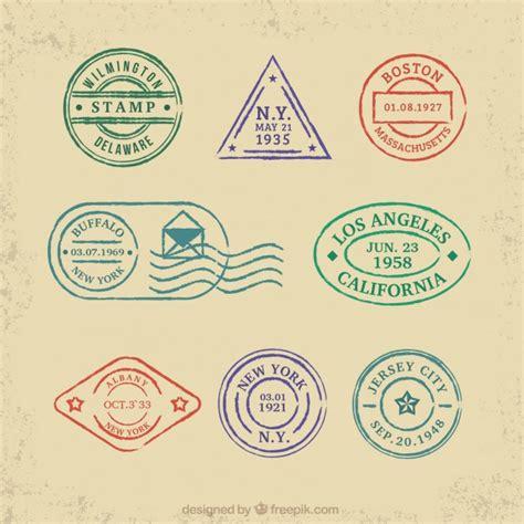 imagenes vintage de sellos colecci 243 n de sellos de colores de viaje descargar