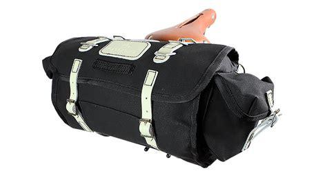 Carradice City Folder M Bag Black White Straps barley used