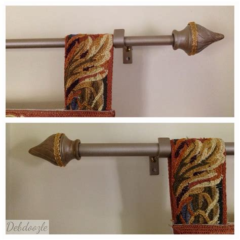 diy curtain finials debdoozle diy curtain rod finial