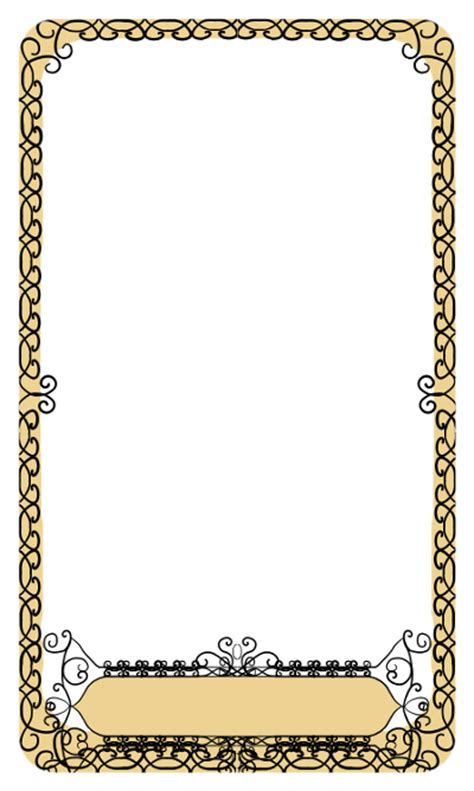 Cards Transparent Template For by Tarot Border Weasyl