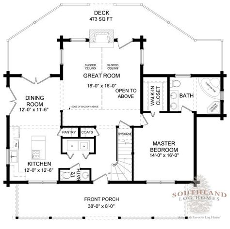 southland log homes floor plans super greenwod i log home plan by southland log homes
