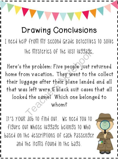 Drawing Conclusions Worksheets 2nd Grade by 1000 Images About Drawing Conclusions On