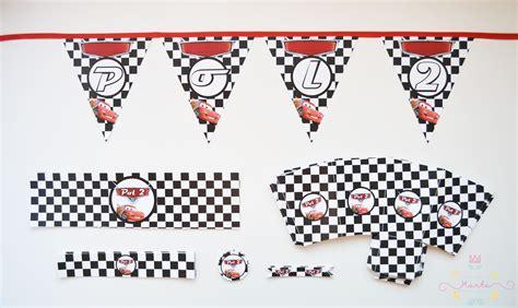 banderines de rayo mcqueen cosetes de marta