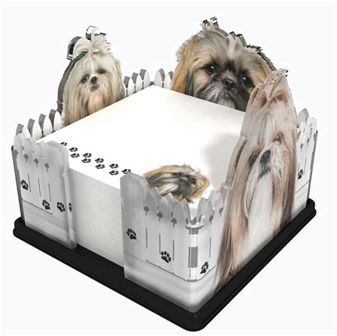 shih tzu gifts shih tzu acrylic note holder memo note pad made in usa