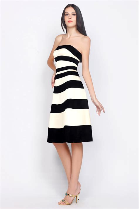 White And Black Dress cocktail black and white dress code plus size prom dresses