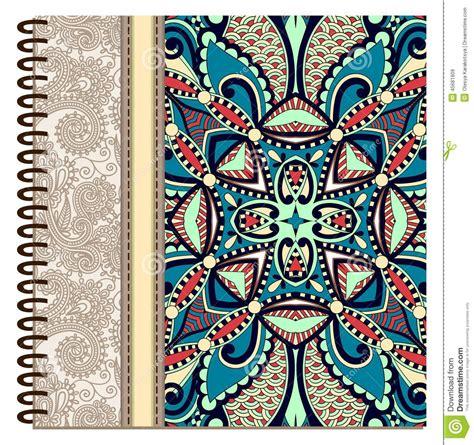 design notebook cover online design of spiral ornamental notebook cover stock vector