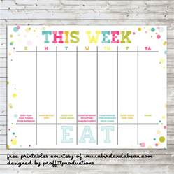 Free Weekly Calendar Templates 2014 by Colorful Weekly Calendar Free Printable