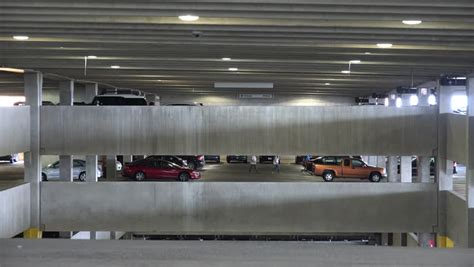 Parking Garage Cars Parking Garages Cars Lots Shopping Stock Footage