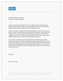 word letterhead template templates ucla brand guidelines