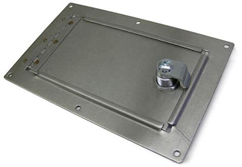 Gas Tank Door fuel tank and master cylinder access door stainless steel