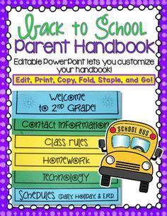 1000 Ideas About Parent Handbook On Pinterest Meet The Teacher Curriculum Night And Classroom Parent Handbook Template