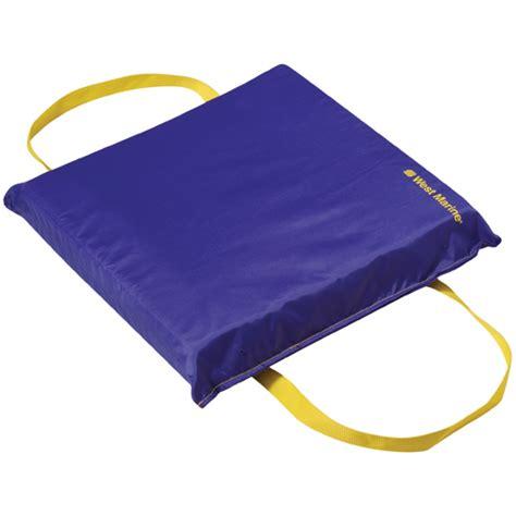 affordable boat cushions review west marine economy flotation cushion blue west marine