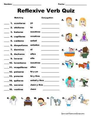 Reflexive Verbs Worksheet by 12 Best Reflexive Verbs Images On