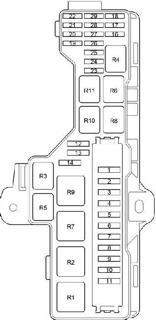 Toyota HiAce Fuse Box Diagram (2013-2018) | Automotive