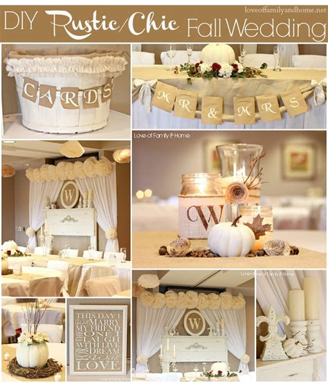 diy wedding theme diy rustic chic fall wedding reveal of family home