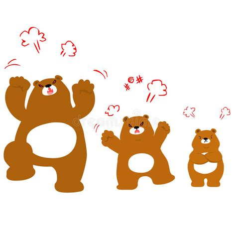 imagenes de la familia de osos personaje de dibujos animados enojado de la familia del